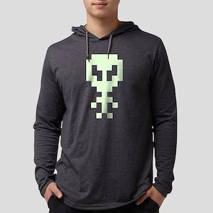 8-Bit Pixel Art Space Alien Long Sleeve T-Shirt