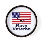 Navy Veteran Wall Clock