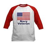 Navy Veteran (Front) Kids Baseball Jersey