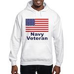 Navy Veteran (Front) Hooded Sweatshirt