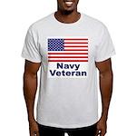 Navy Veteran (Front) Ash Grey T-Shirt