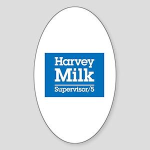 Milk for Supervisor Oval Sticker