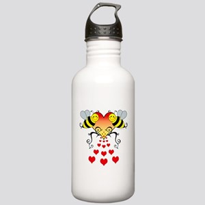 Bumble Bees Hearts Des Stainless Water Bottle 1.0L