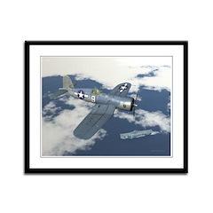 Vought Corsair F4U-1A Framed Panel Print
