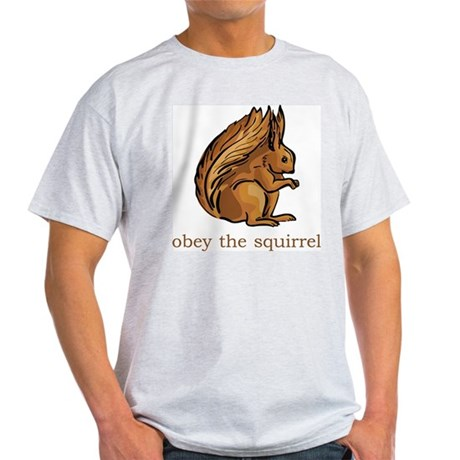 Obey The Squirrel Light T-Shirt