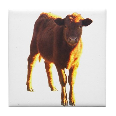 red angus Tile Coaster