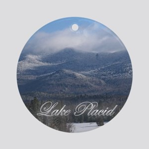 A Lake Placid Christmas Ornament (Round)