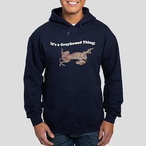 Greyhound Thing Hoodie (dark)