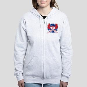 Croatia Winged Women's Zip Hoodie