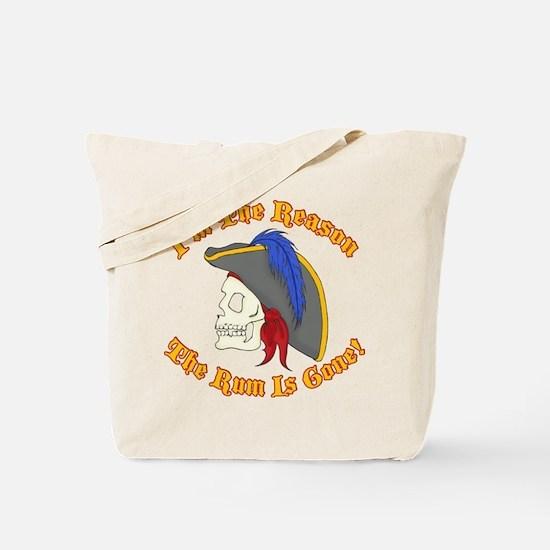 Cute Captain morgan Tote Bag