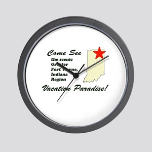 Come See Scenic Fort Wayne Wall Clock