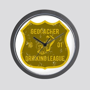 Geocacher Drinking League Wall Clock
