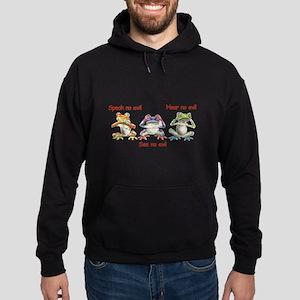 Three Frogs Hoodie (dark)