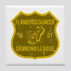 Flamenco Dancer Drinking League Tile Coaster