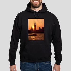 Sears Tower As The Sun Sets Hoodie (dark)