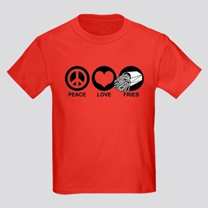 Peace Love Fries Kids Dark T-Shirt
