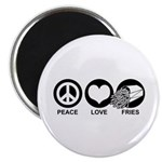 Peace Love Fries Magnet