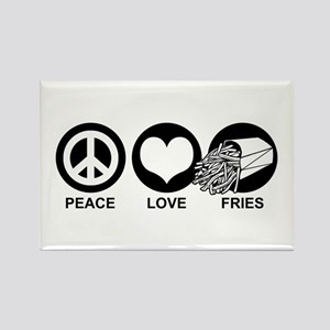 Peace Love Fries Rectangle Magnet