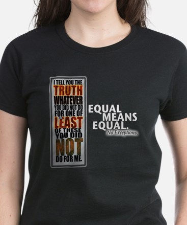 Equal Means Equal Women's Dark T-Shirt
