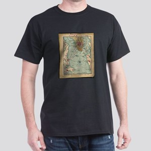Vintage Charleston SC Civil War Map (1865) T-Shirt