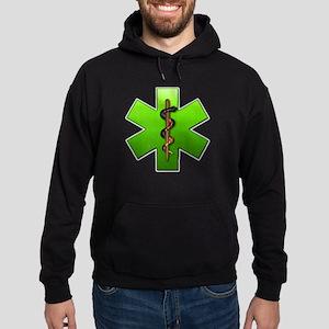 Star of Life(Green) Hoodie (dark)