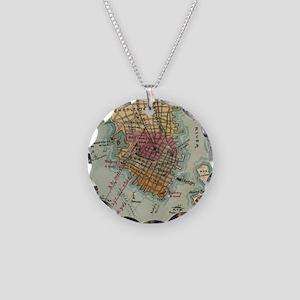 Vintage Charleston SC Civil Necklace Circle Charm