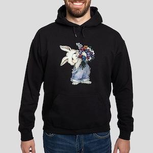 Bunny with Flowers Hoodie (dark)