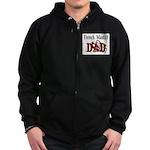 French Mastiff Zip Hoodie (dark)