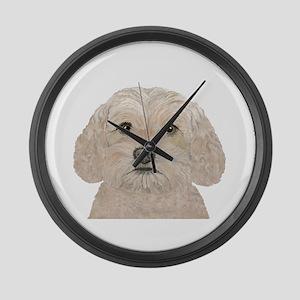 Cockapoo Portrait Large Wall Clock