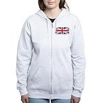 UNION JACK UK BRITISH FLAG Women's Zip Hoodie