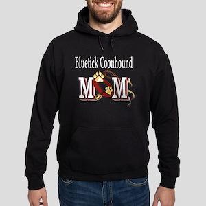 Bluetick Coonhound Mom Hoodie (dark)
