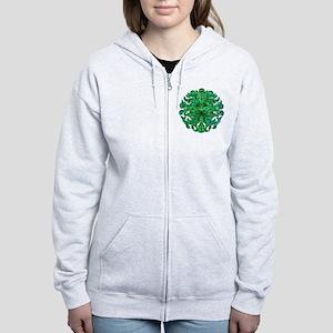 Green Man Gaze Women's Zip Hoodie