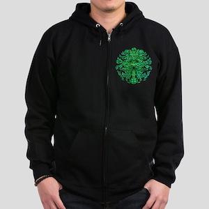 Green Man Gaze Zip Hoodie (dark)
