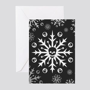 Skullflake (dark) Greeting Cards (Pk of 20)