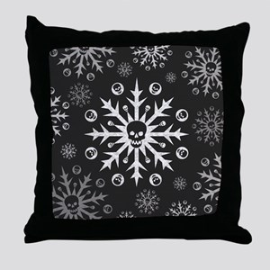 Skullflake (dark) Throw Pillow