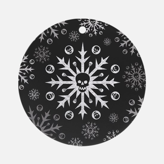 Skullflake (dark) Ornament (Round)