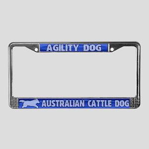 Agility Australian Cattle Dog License Plate Frame