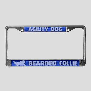 Agility Bearded Collie License Plate Frame