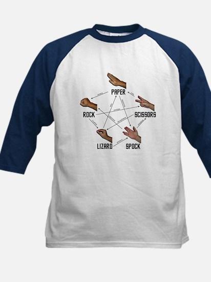 Lizard-Spock Kids Baseball Jersey