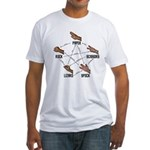 Lizard-Spock Fitted T-Shirt