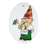 Old Manny the Mason Oval Ornament