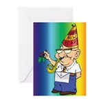 Old Manny the Mason Greeting Cards (Pk of 20)