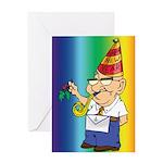 Old Manny the Mason Greeting Card