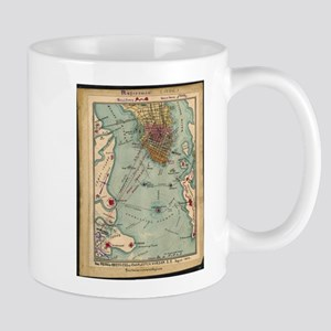 Vintage Charleston SC Civil War Map (1865) Mugs