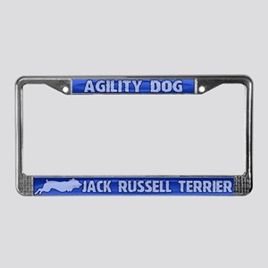 Agility Jack Russell Terrier License Plate Frame