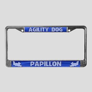 Agility Papillon License Plate Frame