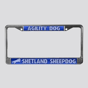 Agility Shetland Sheepdog License Plate Frame