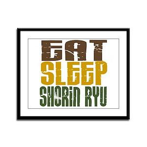 Eat Sleep Shorin Ryu Framed Panel Print