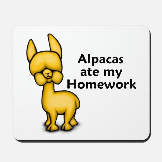 Alpacas ate my Homework Mousepad