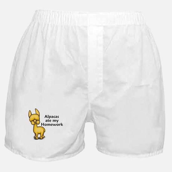 Alpacas ate my Homework Boxer Shorts